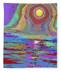 Photosynthesized In Vibrant Color V3 Fleece Blanket