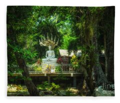Phra Naga Prok At Wat Hin Laad Fleece Blanket