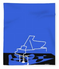 Piano In Blue Fleece Blanket