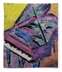 Piano Pink Fleece Blanket