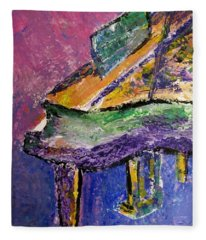 Piano Purple - Cropped Fleece Blanket