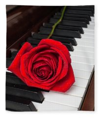 Piano Romance Fleece Blanket