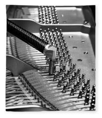 Piano Tuning Bw Fleece Blanket