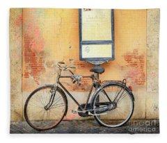 Piazza Navona Bicycle Fleece Blanket
