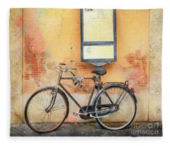 Piazza Navona Bicycle Fleece Blanket