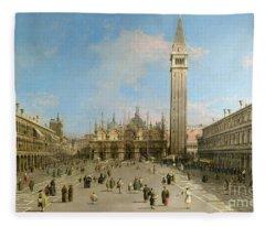 Piazza San Marco Looking Towards The Basilica Di San Marco  Fleece Blanket