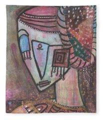 Picasso Inspired Fleece Blanket