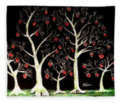 The Valentine Forest Fleece Blanket