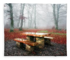 Picnic Of Fog Fleece Blanket