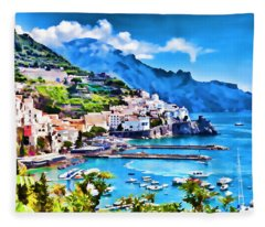 Picturesque Italy Series - Amalfi Fleece Blanket