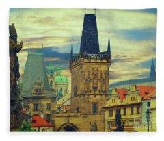 Picturesque - Prague Fleece Blanket