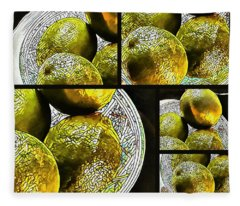 Pieces Of Lime Collage Fleece Blanket