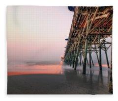 Pier And Surf Fleece Blanket
