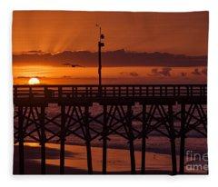 Pier Light Fleece Blanket