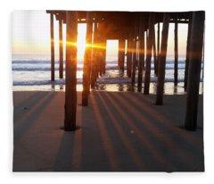 Pier Shadows Fleece Blanket