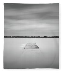 Fleece Blanket featuring the photograph Pier Sinking Into The Water by Todd Aaron