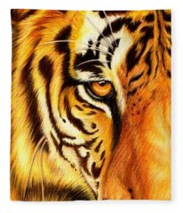 Piercing Glance Fleece Blanket