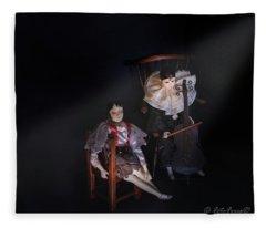 Pierrot And Columbine Fleece Blanket