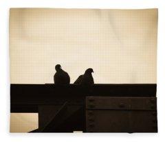 Pigeon And Steel Fleece Blanket