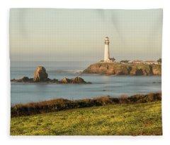 Pigeon Point Mustard Field Fleece Blanket