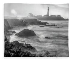 Pigeon Point Rocky Shore Fleece Blanket