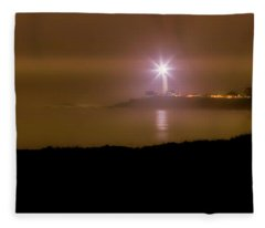 Pigeon Point Through The Fog Fleece Blanket