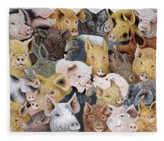 Pigs Galore Fleece Blanket