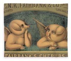 Pigs With Wings Fleece Blanket