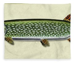Pike Id Fleece Blanket