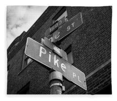 Pike Place Seattle Fleece Blanket