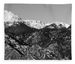 Pikes Peak And Incline 36 By 18 Fleece Blanket