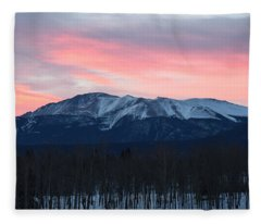 Sunrise Pikes Peak Co Fleece Blanket