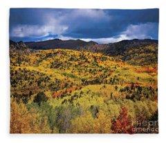 Pikes Peak Autumn Fleece Blanket