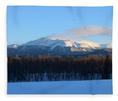 Pikes Peak From Cr511 Divide Co Fleece Blanket