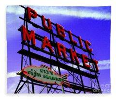 Pike's Place Market Fleece Blanket
