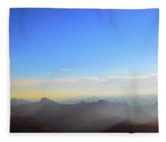 Pilchuck And Three Sisters Sunrise Fleece Blanket