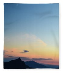 Pilchuck Sunset Fleece Blanket