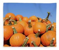 Pile Of Pumpkins Fleece Blanket