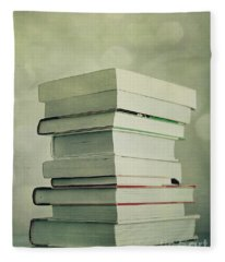 Piled Reading Matter Fleece Blanket