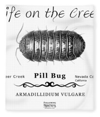 Pill Bug Armadillidium Vulgare Fleece Blanket