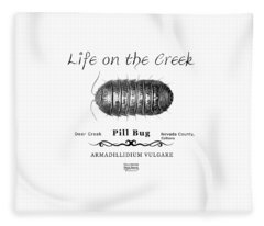 Pill Bug Armadillidium Vulgare Fleece Blanket
