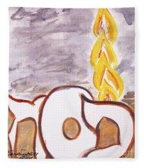 Pillar Of Fire Fleece Blanket