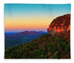 Pilot Mountain  Fleece Blanket