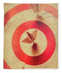 Pin Plane Darts Hitting Goals Fleece Blanket