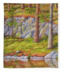 Pine Beach Fleece Blanket