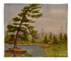 Pine Bent Over Time Fleece Blanket