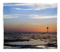 Pine Island Sunset Fleece Blanket