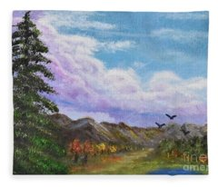 Pine Watches Eagles Fleece Blanket