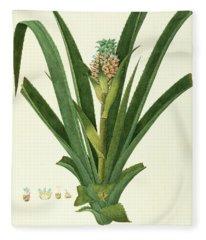 Pineapple Ananas Comosus Fleece Blanket
