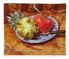 Pineapple And Tomato Fleece Blanket